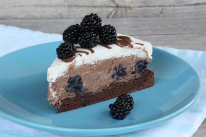 Čokoládová tortička s černicami - recept