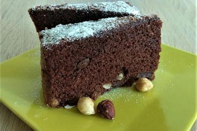 Čokoládovo-orieškový koláč - recept
