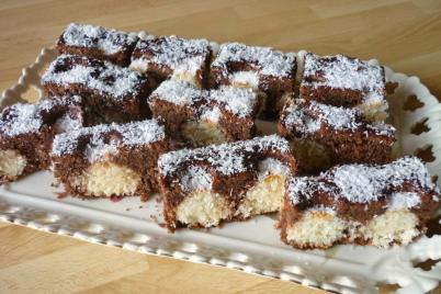 Čokoládovo kokosové rezy - recept