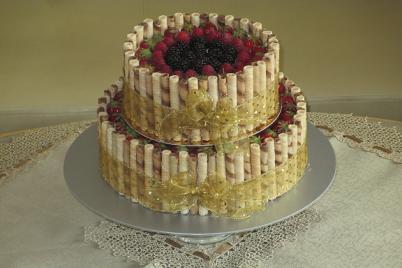 Slávnostna torta s ovocím + recept. - recept