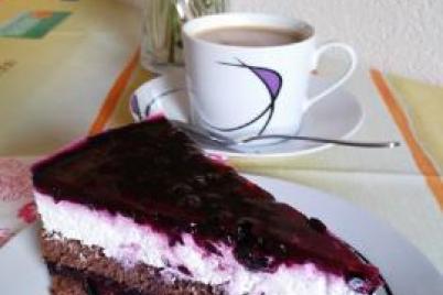 Čučoriedky koláč so želé - recept