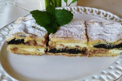 Mriežkový tvarohovo - jablkovo - makový koláč.  - recept
