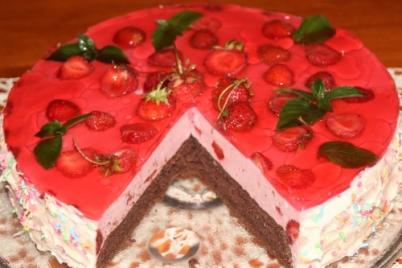 Jahodová torta so želé - recept