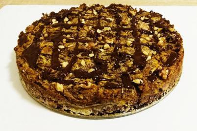 Jablkový koláč bez múky a cukru - recept