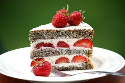 Jahodovo - maková torta - recept