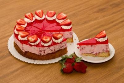 Jahodový dortík - recept
