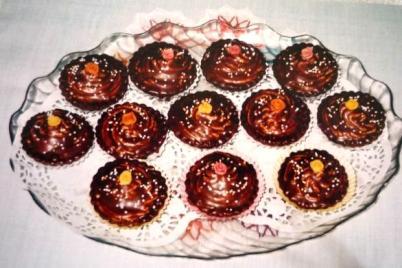 Košíčky s orechovou plnkou - recept