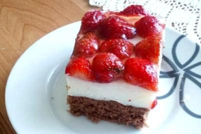 Letný jahodový koláčik - recept