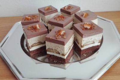 Lieskovcovo-smotanove kocky - recept