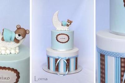 Dekorovanie torty pomocou airbrush - ako sa robí káro vzor - video - foto postup