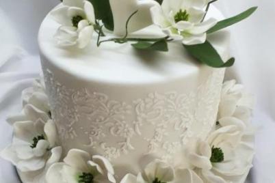 Biele magnólie na svadobnú tortu s fotopostupom - foto postup