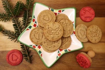 Pečiatkové sušienky s orechmi. - recept