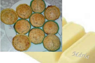 Muffiny s bielou čokoládou. - recept