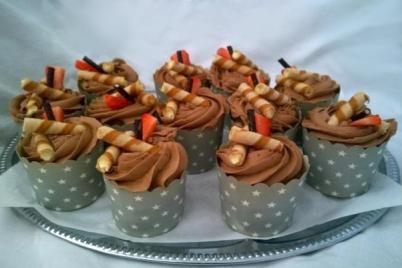 Orechové cupcakes s nutelovým krémom - recept