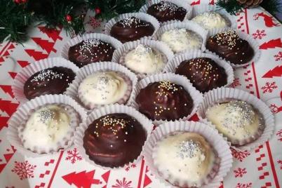 Kakaové košíčky s orechovou plnkou - recept