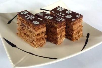Čokoládovo orechové rezy - recept