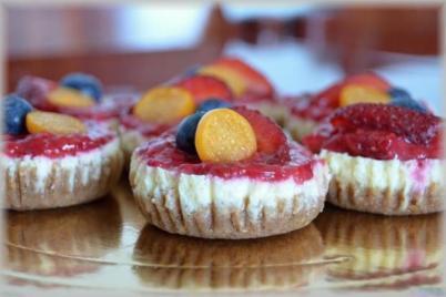 Ovocné minicheesecakes - recept