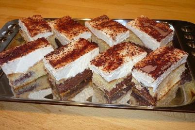 Pudingovo šľahačkové rezy - recept
