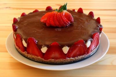 RAW jahodová torta - recept