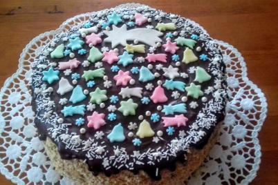 Vianočná karamelová torta - recept