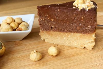 Nepečená torta s Nutelou a keksom - recept