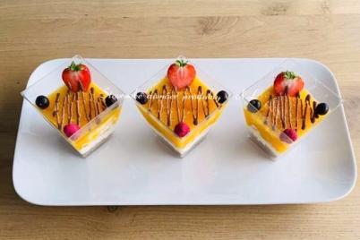 Broskyňovo tvarohový dezert - recept
