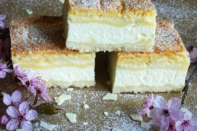 Sypaný tvarohový koláč - recept