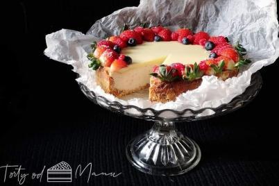 Jahodovo-malinový cheesecake - recept