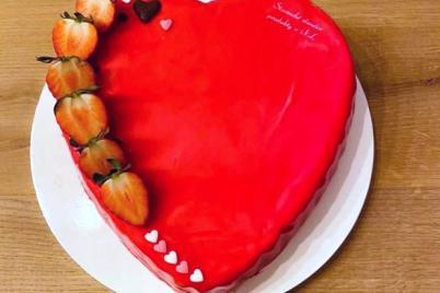Jahodové srdce  - recept