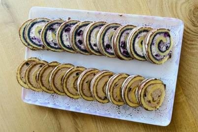 Roláda s mascarpone a tvarohom  - recept