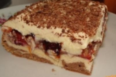 Slivkové kocky s vanilkovým krémom - recept