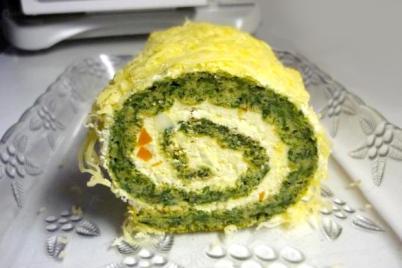 Špenátová roláda - recept