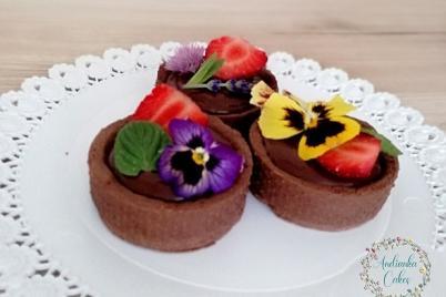 Tartaletky plnené čokoládovo karamelovou ganache - recept