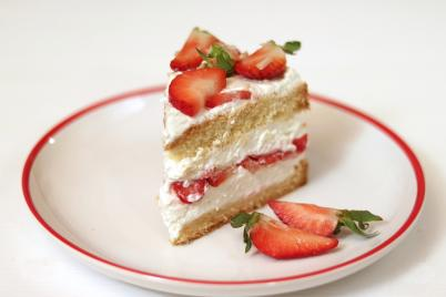 Svieža tvarohová tortička s jahodami - recept