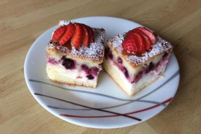 Tvarohovo ovocný koláčik - recept