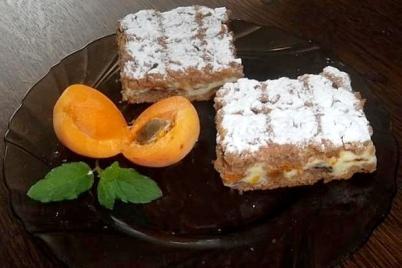 Tvarohový koláč s marhuľami - recept