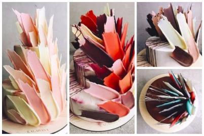 Netradičné torty z ruskej cukrárne zdobí čokoládové perie. FOTO+VIDEO - foto postup