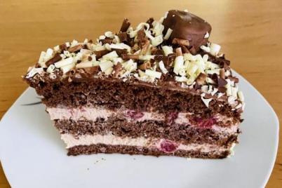 Čokoládovo višňová torta - recept