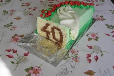 Skrytá číslica v torte - foto postup