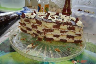 Sachovnicova torta - foto postup