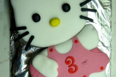 Hello Kitty 1. a  2. - foto postup