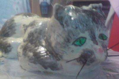 mačka 3D - foto postup