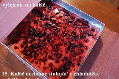 Malinové rezy s mascarpone krémom. - foto postup