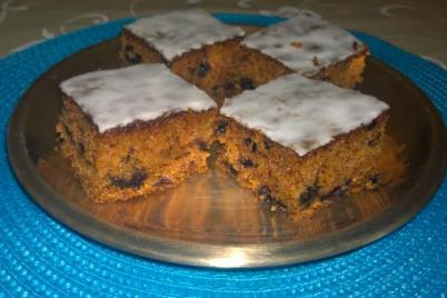 Mrkvovo-čučoriedkový koláč - recept