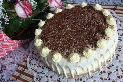 Torta zebra s vaječným likérom - recept